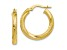 10k Yellow Gold Textured Hinged Hoop Earrings