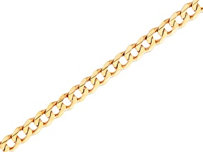 10k Yellow Gold 8 inch Curb Link Bracelet