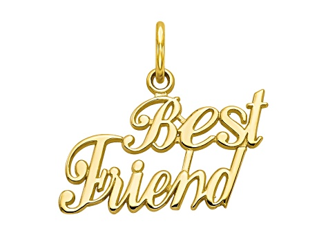10k Yellow Gold Best Friend Charm