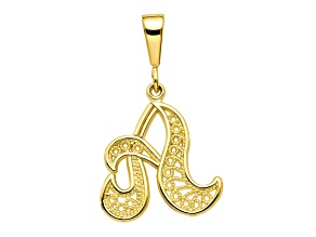 10k Yellow Gold Script initial A Charm