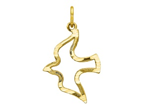 10k Yellow Gold Dove Charm