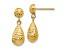 10k Yellow Gold Diamond-Cut Post Dangle Earrings