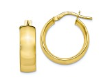 10k Yellow Gold Polished Hoop Earrings