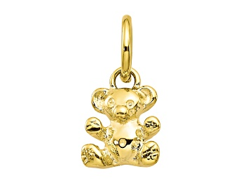 Solid 10k Yellow Gold DOVE Charm Pendant 25mm x 16mm