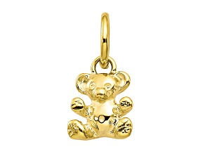 10k Yellow Gold Teddy Bear Charm