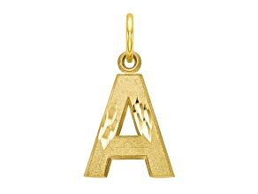 10k Yellow Gold initial A Charm