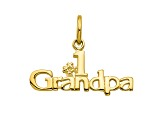 10k Yellow Gold #1 Grandpa Charm