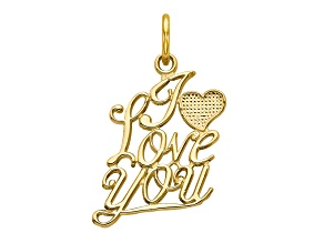 10k Yellow Gold I Love You Charm