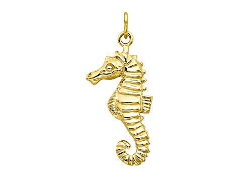 10k Yellow Gold Sea Horse Charm