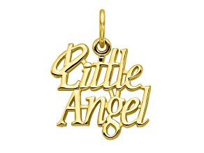 10k Yellow Gold Little Angel With Halo Charm