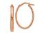 10k Rose Gold Polished Oval Hoop Earrings