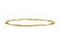 10k Yellow Gold Slip-On Bangle Bracelet 7 inches
