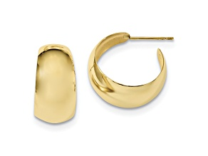 10k Yellow Gold Small Hoop Earrings