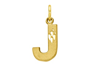10k Yellow Gold initial J Charm