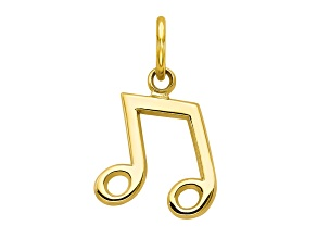 10k Yellow Gold Musical Note Charm