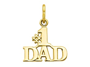 10k Yellow Gold #1 Dad Charm