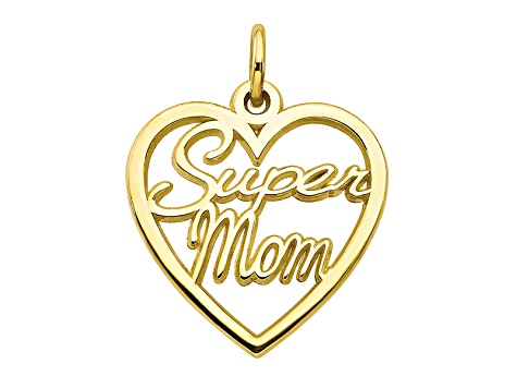 10k Yellow Gold Super Mom Charm
