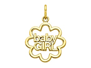 10k Yellow Gold Baby Girl Charm