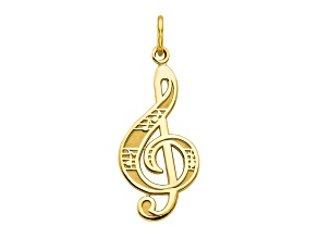 10k Yellow Gold Treble Clef Charm