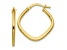 10k Yellow Gold Polished Square Hoop Earrings