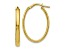 10k Yellow Gold Polished Oval Hoop Earrings