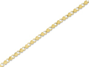 10k Yellow Gold Heart Bracelet