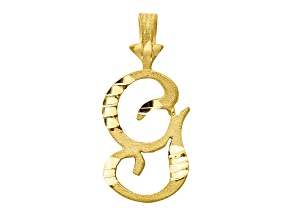 10k Yellow Gold initial G Charm