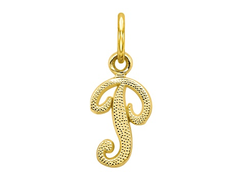 10k Yellow Gold initial P Charm