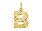 10k Yellow Gold initial B Charm