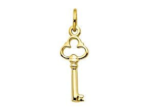 10k Yellow Gold Solid Key Charm