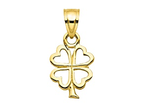 10k Yellow Gold Four Leaf Clover Charm