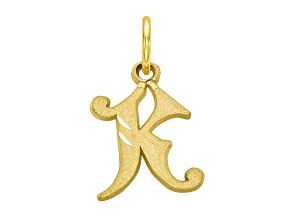 10k Yellow Gold initial K Charm