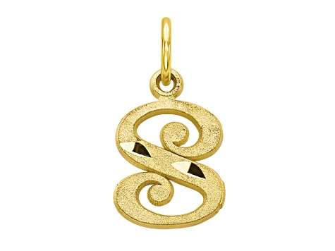 10k Yellow Gold initial S Charm