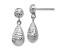 10k White Gold Diamond-Cut Post Dangle Earrings