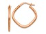 10k Rose Gold Polished Square Hoop Earrings