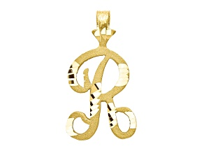 10k Yellow Gold initial R Charm