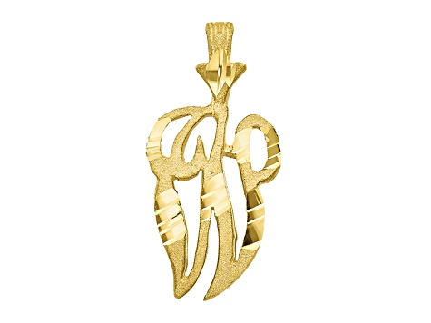 10k Yellow Gold initial W Charm