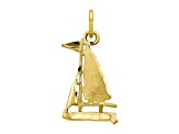 10k Yellow Gold Sailboat Charm