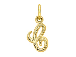 10k Yellow Gold initial C Charm