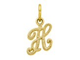 10k Yellow Gold initial H Charm