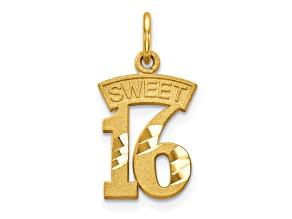 10k Yellow Gold Sweet 16 Charm