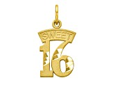 10k Yellow Gold Sweet 16 Charm