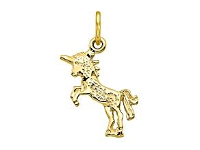 10k Yellow Gold Baby Unicorn Charm