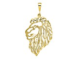 10k Yellow Gold Solid Diamond-Cut Lions Head Charm