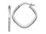 10k White Gold Polished Square Hoop Earrings