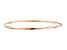 10k Rose Gold Slip-On Bangle Bracelet 7 inches