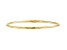 10k Yellow Gold Slip-On Bangle Bracelet 7 inches