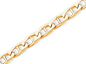 10k Yellow Gold 6.8mm Hand-Polished Anchor Link Bracelet