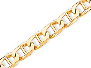 10k Yellow Gold 10.3mm Hand-Polished Anchor Link Bracelet