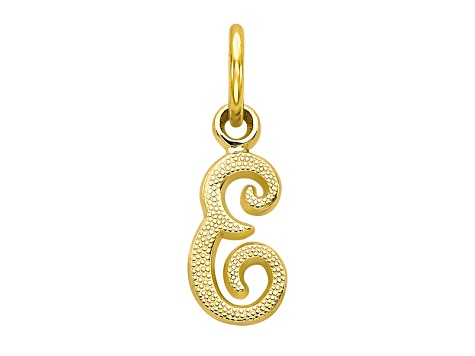 10k Yellow Gold initial E Charm
